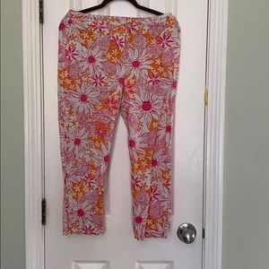 Lilly Pulitzer cropped flowered pants